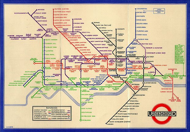 Harry Beck's London Underground map