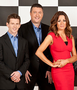 Anthony Davidson, David Croft and Natalie Pinkham