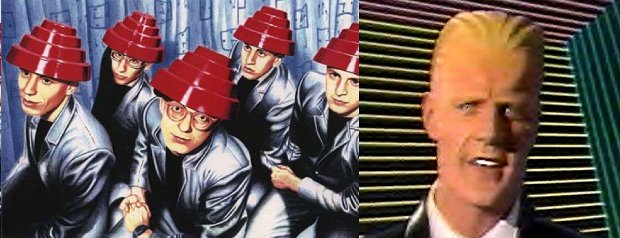 The pop group Devo and Max Headroom