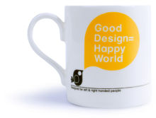 "Design Museum mug: ""Good Design = Happy World"""